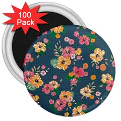 Aloha Hawaii Flower Floral Sexy 3  Magnets (100 Pack)