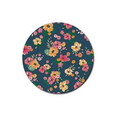 Aloha Hawaii Flower Floral Sexy Rubber Coaster (round)