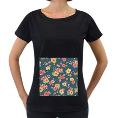 Aloha Hawaii Flower Floral Sexy Women s Loose Fit T Shirt (black)