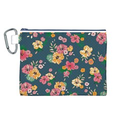 Aloha Hawaii Flower Floral Sexy Canvas Cosmetic Bag (l)