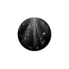 Black Rays Light Stars Space Golf Ball Marker (10 Pack)