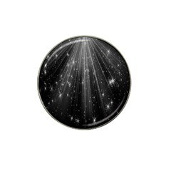 Black Rays Light Stars Space Hat Clip Ball Marker (4 Pack)