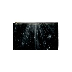 Black Rays Light Stars Space Cosmetic Bag (small)