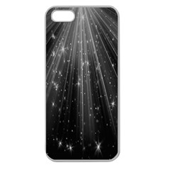 Black Rays Light Stars Space Apple Seamless Iphone 5 Case (clear)