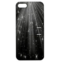 Black Rays Light Stars Space Apple Iphone 5 Hardshell Case With Stand