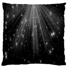 Black Rays Light Stars Space Large Flano Cushion Case (one Side)