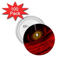 Black Red Space Hole 1 75  Buttons (100 Pack)