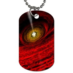 Black Red Space Hole Dog Tag (two Sides)