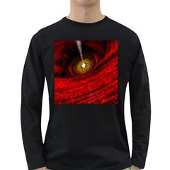 Black Red Space Hole Long Sleeve Dark T Shirts