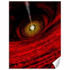 Black Red Space Hole Canvas 18  X 24