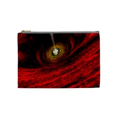 Black Red Space Hole Cosmetic Bag (medium)