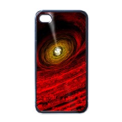 Black Red Space Hole Apple Iphone 4 Case (black)