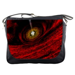 Black Red Space Hole Messenger Bags