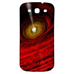 Black Red Space Hole Samsung Galaxy S3 S Iii Classic Hardshell Back Case