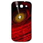 Black Red Space Hole Samsung Galaxy S3 S III Classic Hardshell Back Case Front