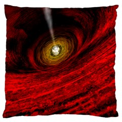 Black Red Space Hole Standard Flano Cushion Case (one Side)