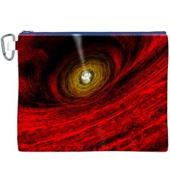 Black Red Space Hole Canvas Cosmetic Bag (xxxl)