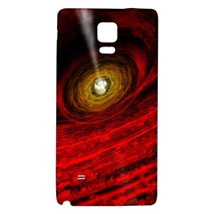 Black Red Space Hole Galaxy Note 4 Back Case