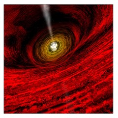 Black Red Space Hole Large Satin Scarf (square)
