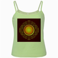 Badge Gilding Sun Red Oriental Green Spaghetti Tank