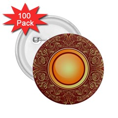 Badge Gilding Sun Red Oriental 2 25  Buttons (100 Pack)