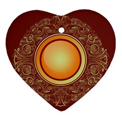 Badge Gilding Sun Red Oriental Heart Ornament (two Sides)