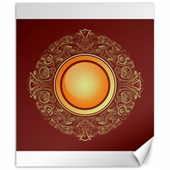 Badge Gilding Sun Red Oriental Canvas 8  X 10