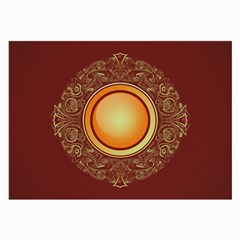 Badge Gilding Sun Red Oriental Large Glasses Cloth