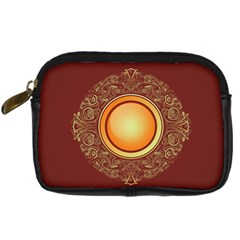 Badge Gilding Sun Red Oriental Digital Camera Cases