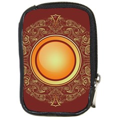 Badge Gilding Sun Red Oriental Compact Camera Cases