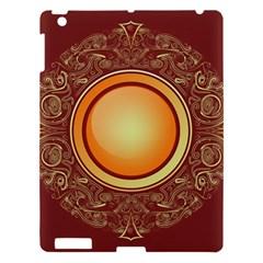 Badge Gilding Sun Red Oriental Apple Ipad 3/4 Hardshell Case