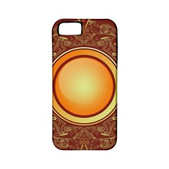 Badge Gilding Sun Red Oriental Apple Iphone 5 Classic Hardshell Case (pc+silicone)