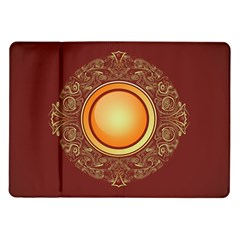 Badge Gilding Sun Red Oriental Samsung Galaxy Tab 10 1  P7500 Flip Case