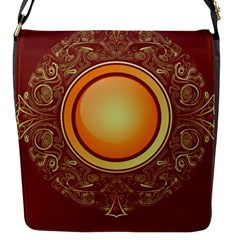 Badge Gilding Sun Red Oriental Flap Messenger Bag (s)