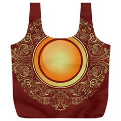 Badge Gilding Sun Red Oriental Full Print Recycle Bags (l)