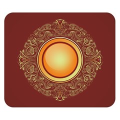 Badge Gilding Sun Red Oriental Double Sided Flano Blanket (small)
