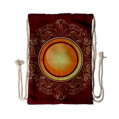 Badge Gilding Sun Red Oriental Drawstring Bag (small)