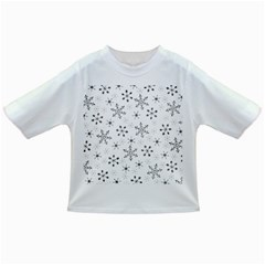 Black Holiday Snowflakes Infant/toddler T Shirts