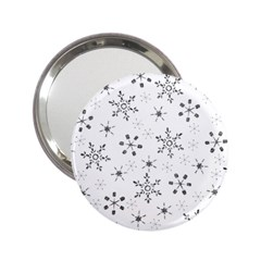 Black Holiday Snowflakes 2 25  Handbag Mirrors