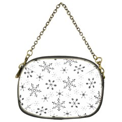 Black Holiday Snowflakes Chain Purses (one Side)