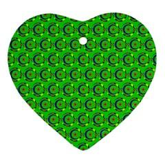 Abstract Art Circles Swirls Stars Ornament (heart)