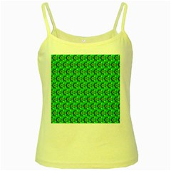 Abstract Art Circles Swirls Stars Yellow Spaghetti Tank