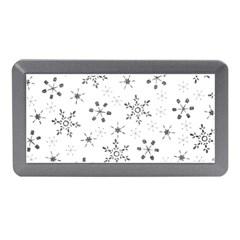 Black Holiday Snowflakes Memory Card Reader (mini)