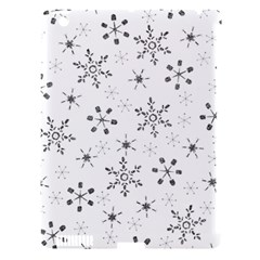 Black Holiday Snowflakes Apple Ipad 3/4 Hardshell Case (compatible With Smart Cover)
