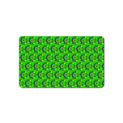 Abstract Art Circles Swirls Stars Magnet (name Card)