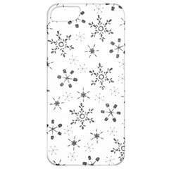 Black Holiday Snowflakes Apple Iphone 5 Classic Hardshell Case