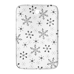 Black Holiday Snowflakes Samsung Galaxy Note 8 0 N5100 Hardshell Case
