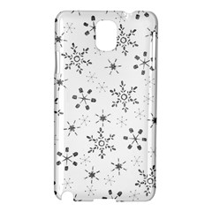 Black Holiday Snowflakes Samsung Galaxy Note 3 N9005 Hardshell Case