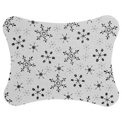 Black Holiday Snowflakes Jigsaw Puzzle Photo Stand (bow)