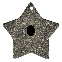Black Hole Blue Space Galaxy Star Light Star Ornament (two Sides)